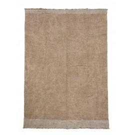 house doctor shander petit tapis jute coton couleur naturelle 60 x 90 cm
