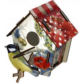 nichoir oiseaux decoratif miho unexpected  poppy seed