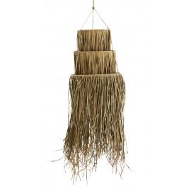 madam stoltz abat jour suspension en palmier fibres vegetale naturelle