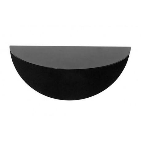 etagere murale demi lune metal noir muubs gravity s