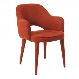 pols potten cosy fauteuil confortable avec accoudoirs textile rouille