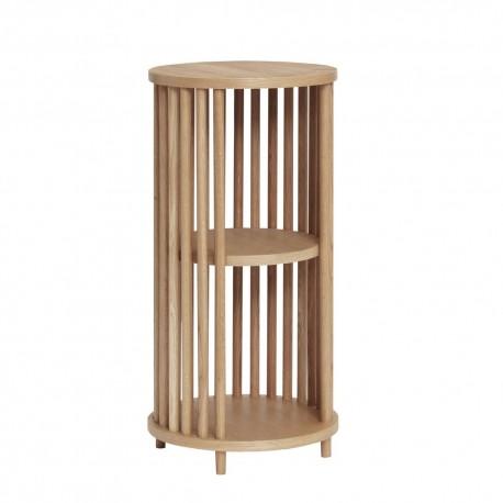 hubsch table d appoint de rangement bois clair style scandinave