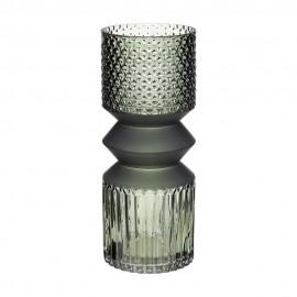 hubsch vase droit verre taille vert