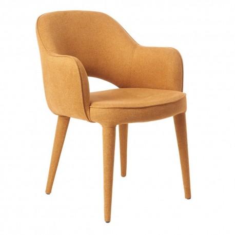 pols potten cosy fauteuil de table rembourre textile jaune ocre