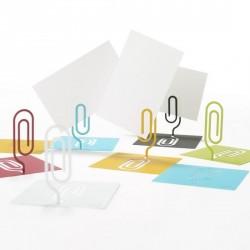 Porte photo métal blanc design clipico