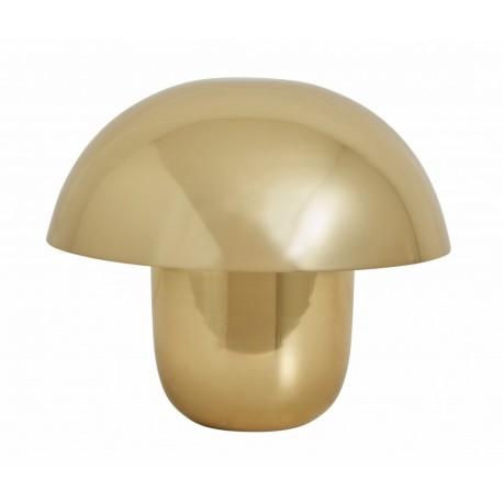 nordal focus lampe de table champignon metal dore