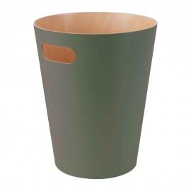 umbra woodrow corbeille a papier bois vert 082780-1095