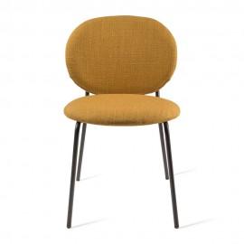 pols potten simply chaise rembourree tissu jaune ocre metal noir