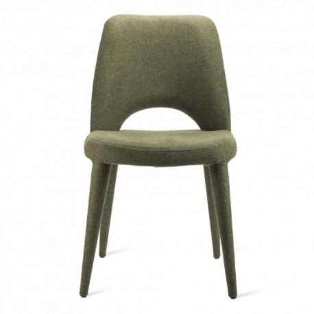 pols potten holy chaise confortable rembourree tissu vert kaki