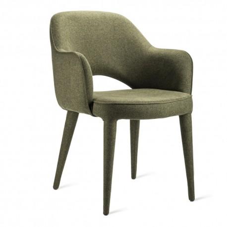 pols potten cosy fauteuil de table confortable tissu vert kaki