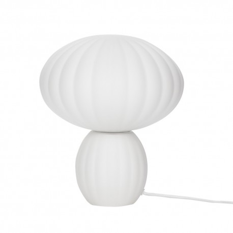hubsch lampe de table champignon style retro verre blanc 991107