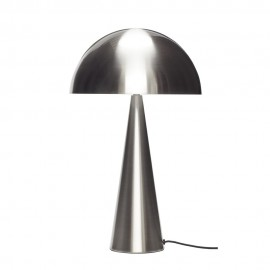 hubsch lampe de table champignon metal argent 991108