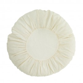 tres grand coussin rond shabby chic lin plisse blanc madam stoltz d 6