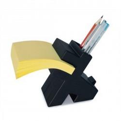 Porte crayons bloc notes original noir lucky manta design