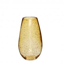 vase verre bulles ambre hubsch 281101