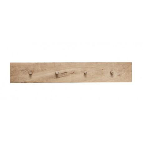 portemanteau mural moderne bois clair hubsch 4 pateres 888040