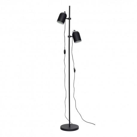 lampadaire design liseuse metal noir 2 lampes hubsch 990802