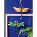 grande libellule decoration murale en carton studio roof