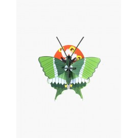 decoration murale insecte papillon machaon vert studio roof