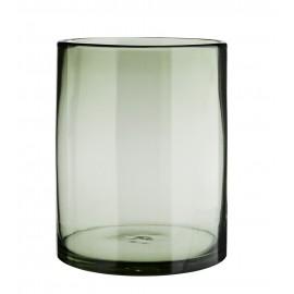 madam stoltz vase verre cylindre vert