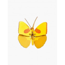 papillon jaune decoration murale studio roof
