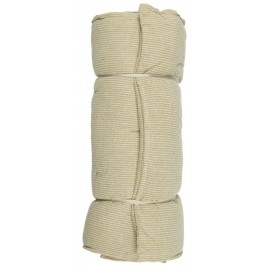 coussin long pour banc ou transat coton jaune rayures ib laursen
