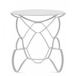 Table basse acier blanc design pulpo loll L