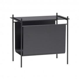 Table basse bout de canapé range-revues métal Hübsch
