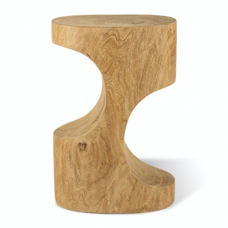 pols potten double arch tabouret bout de canapé bois sculpte