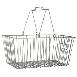 panier de course rangement vintage fil metallique gris ib laursen