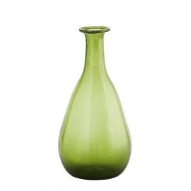 Vase bouteille verre recyclé Madam Stoltz vert