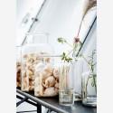 madam stoltz vase bocal terrarium verre transparent