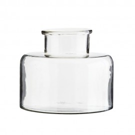 Vase bocal plat verre Madam Stoltz