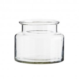 petit vase bocal verre transparent madam stoltz