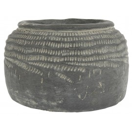 Cache-pot en béton gris vintage brocante IB Laursen Cleopatra
