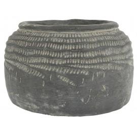 cache pot en beton gris vintage brocante ib laursen cleopatra