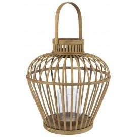 ib laursen grande lanterne decorative bambou avec poignee
