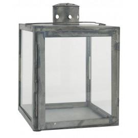 ib laursen lanterne carree vintage metal verrre