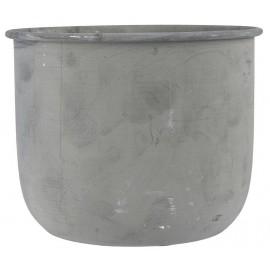 Cache-pot métal gris vintage IB Laursen