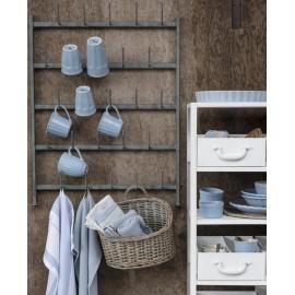 Étagère porte-tasses mural 25 crochets métal gris IB Laursen