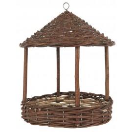 mangeoire pour oiseaux jardin saule naturel tresse ib laursen