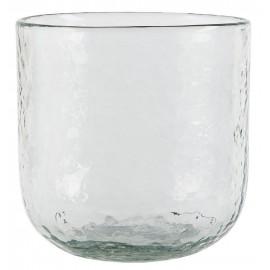 Pot de fleur verre épais transparent IB Laursen
