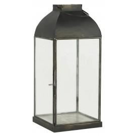 lanterne style vintage metal noir verre ib laursen