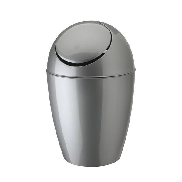 Petite poubelle plastique design argent umbra sway - Petite poubelle de cuisine ...