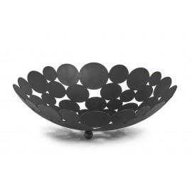 corbeille a fruits ronde metal noir ajoure zeller