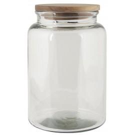 grand bocal de conservation xl verre bois 3 litres ib laursen