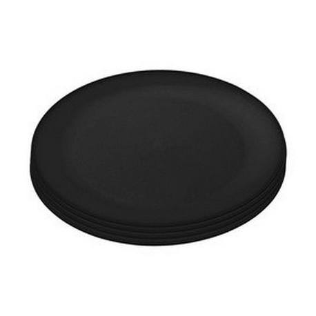 assiettes-plastique-noir-rondo-koziol-set-de-4