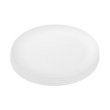 assiettes-blanches-plastique-rondo-koziol-set-de-4