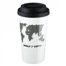 MUG CAFE ISOTHERME PORCELAINE WORLD OF COFFEE