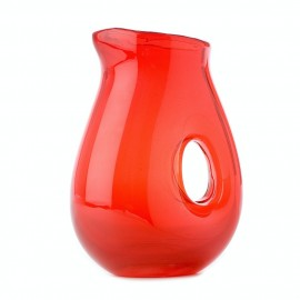 pols potten jug with hole carafe design verre rouge